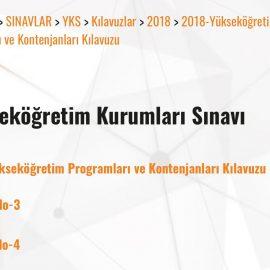 2018 Yükseköğretim Programları ve Kontenjanlar Klavuzu
